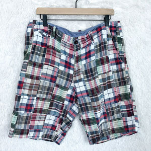 "J Crew | Madras Plaid Field 9"" Shorts Size 34"